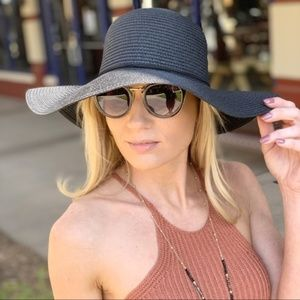 Black Tassel Floppy Hat